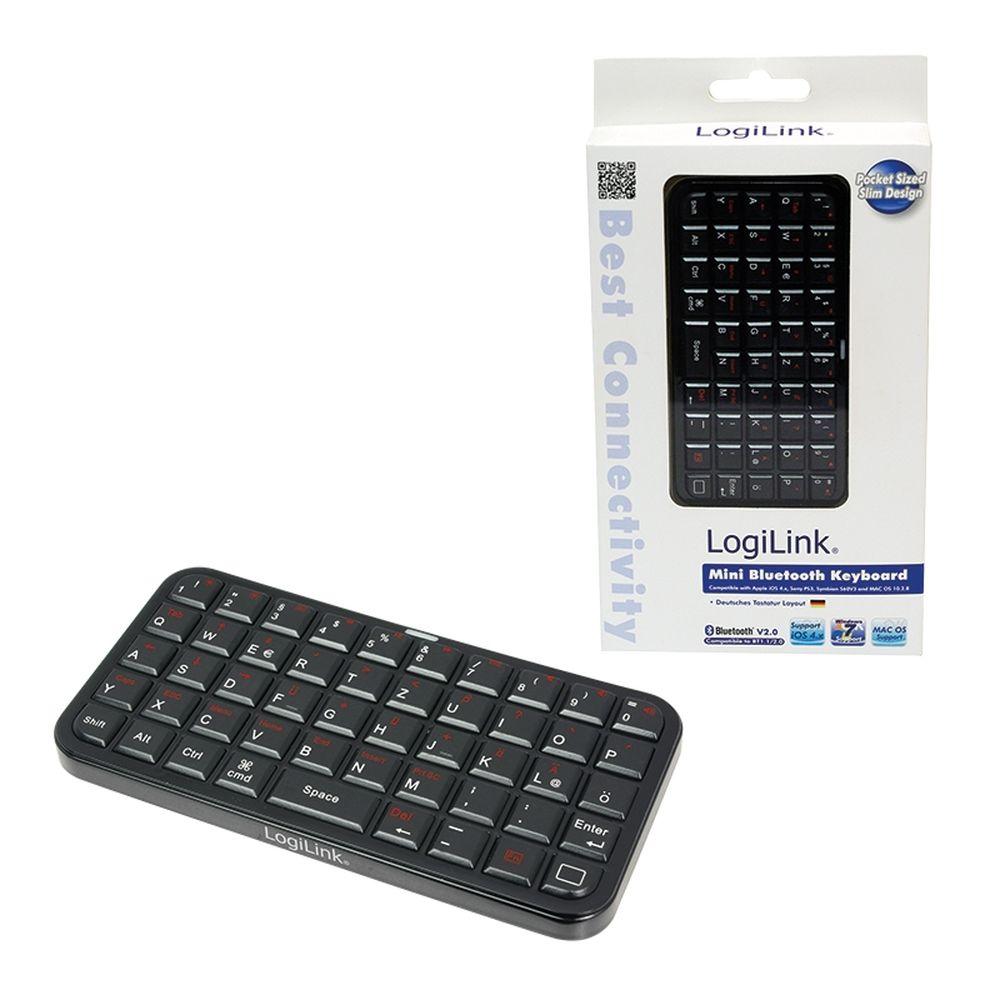 logilink mini bluetooth tastatur perfekt f r smartphone. Black Bedroom Furniture Sets. Home Design Ideas