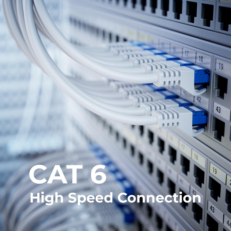 deleyCON 3m CAT6 Patchkabel Netzwerkkabel Ethernet LAN DSL Kabel ...