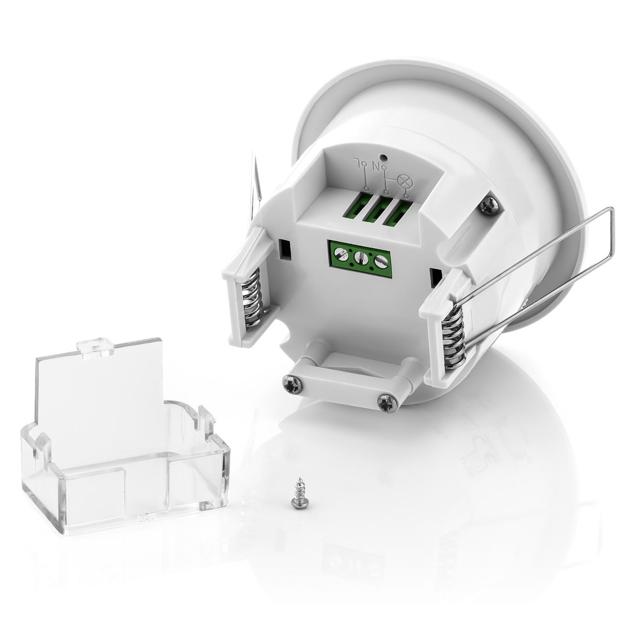 deleycon 2x infrarot bewegungsmelder unterputz decke 360 innen bis 6m sensor ebay. Black Bedroom Furniture Sets. Home Design Ideas