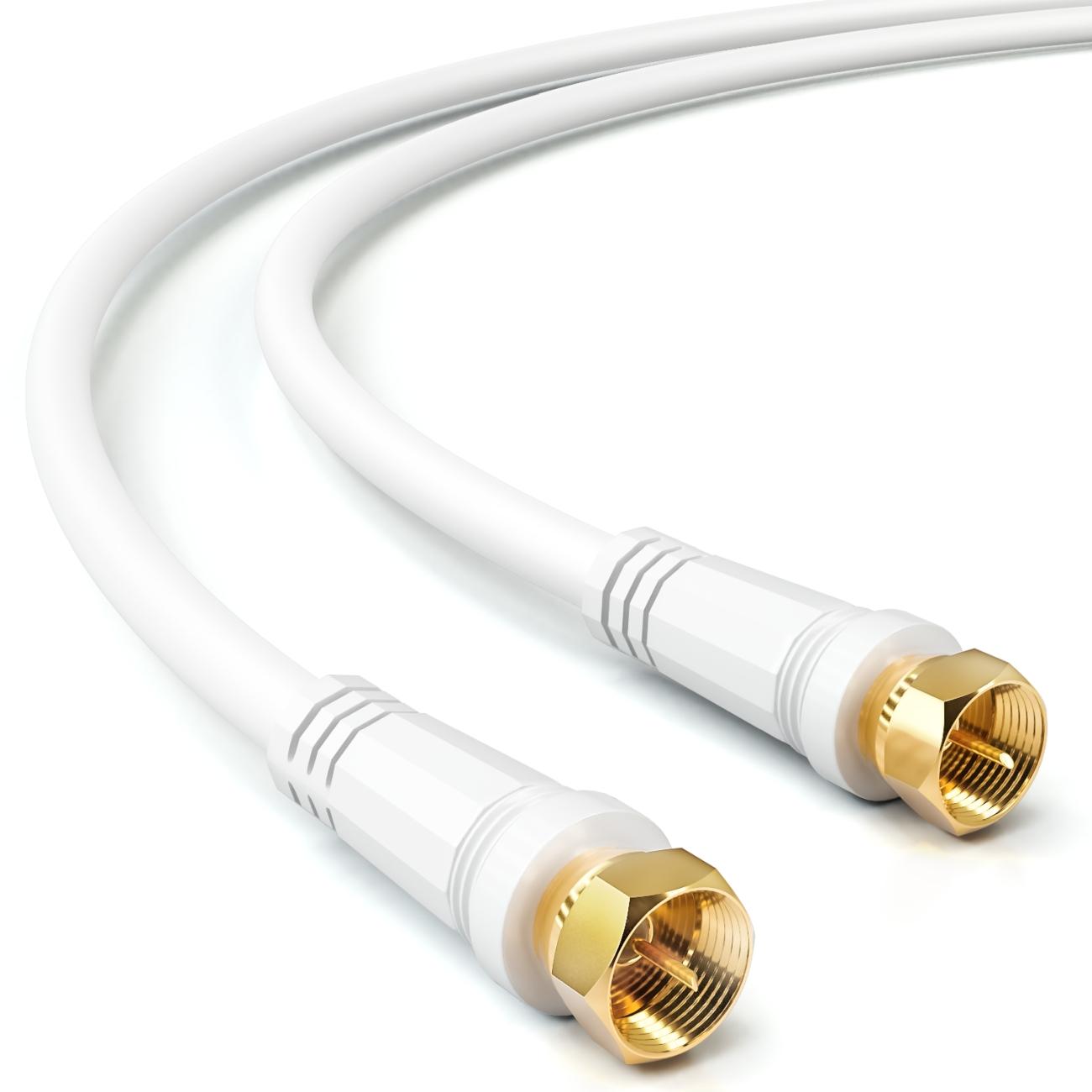 90m 135dB 5-fach Sat-Koaxial Kabel Antennen Kabel Full HDTV 3D 4K Sky HD+