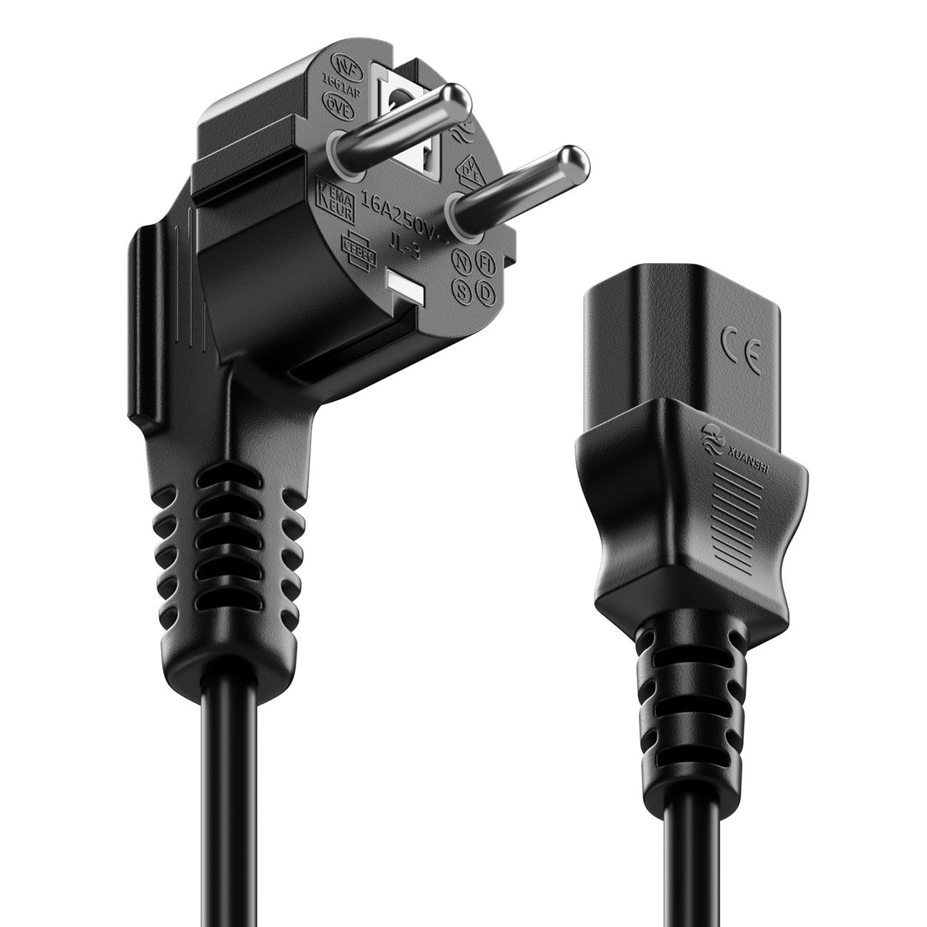 15m Stromkabel Kaltgerätekabel Netzkabel Kaltgeräte Strom Kabel C13 PC Computer