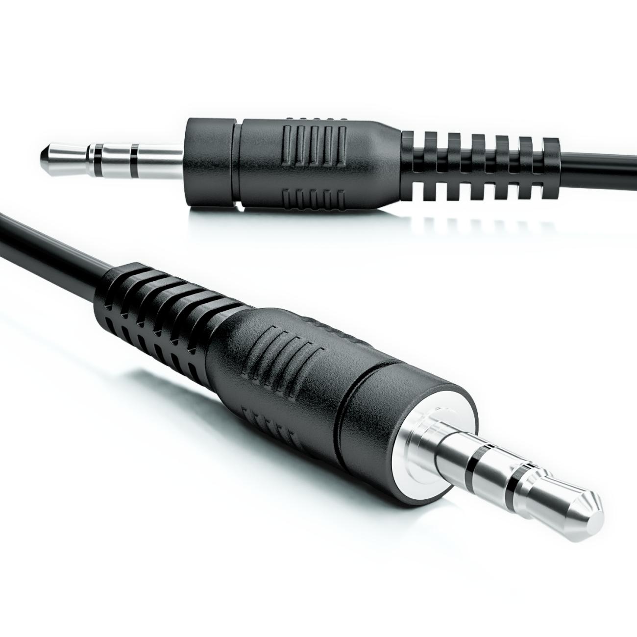 10cm 3,5mm Stereo Klinken Kabel Audio Klinke AUX Kabel Stecker für ...