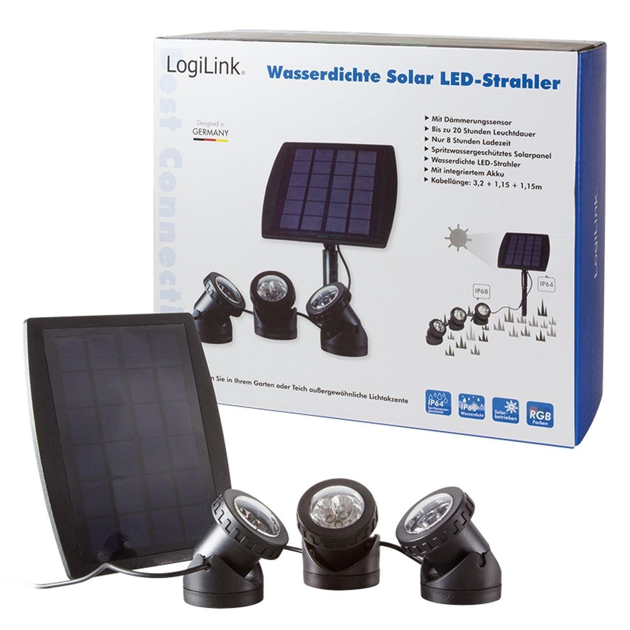 Solar LED Strahler LED Lampe Wasserdicht Teichbeleuchtung Teich ...