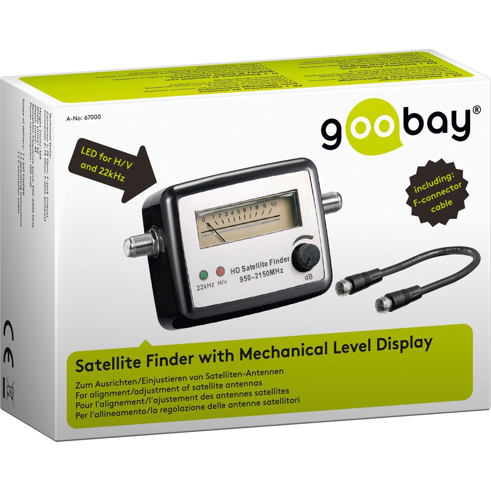 sat finder digital analog satfinder hdtv satelliten finder f kabel sat signal ebay. Black Bedroom Furniture Sets. Home Design Ideas