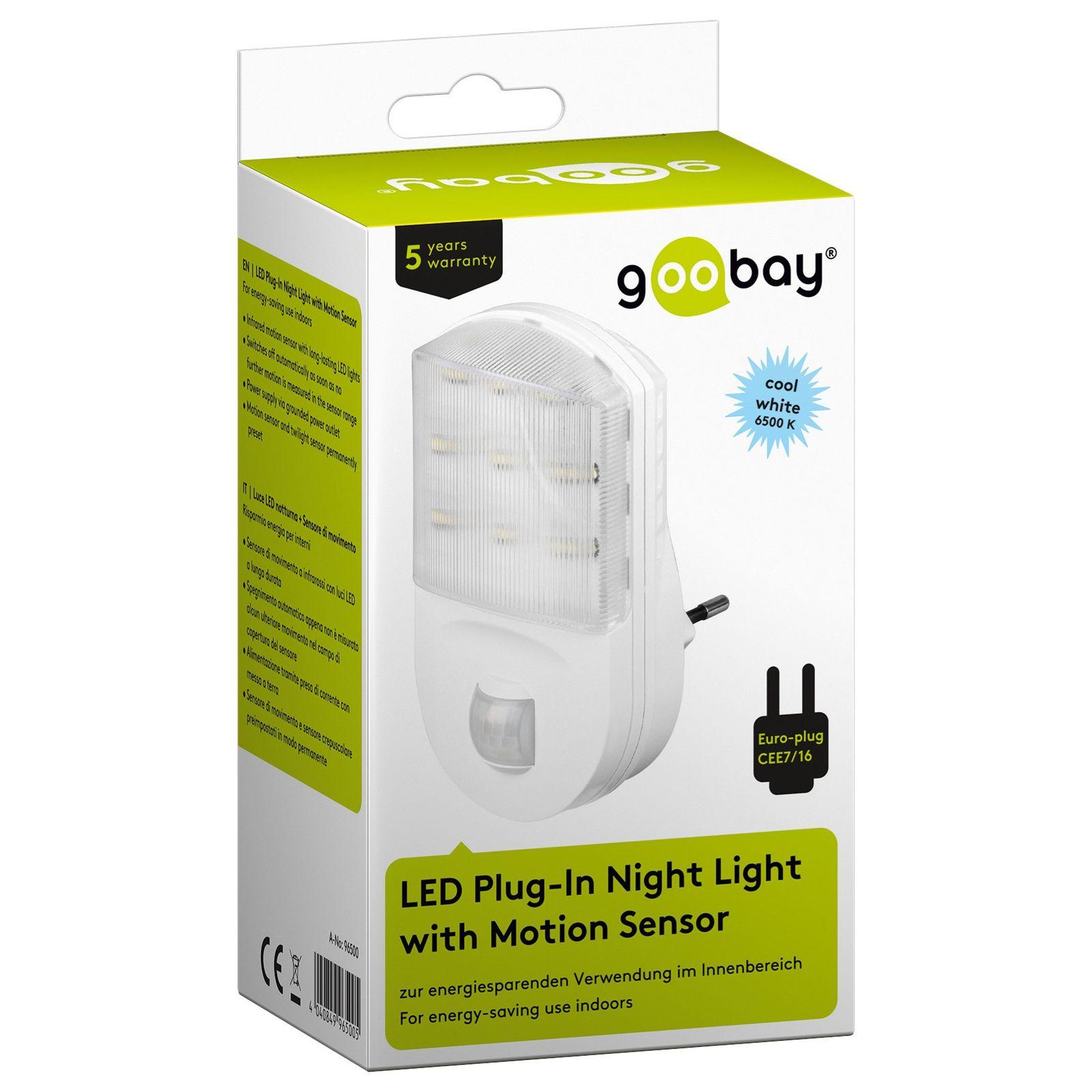 led nachtlicht mit bewegungsmelder f r steckdose 9 leds nachtlicht nachtlampe 4040849965005 ebay. Black Bedroom Furniture Sets. Home Design Ideas
