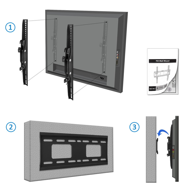 deleycon universal tv wandhalterung bis 65 zoll 165cm neigbar bis 75kg 4250580119166 ebay. Black Bedroom Furniture Sets. Home Design Ideas