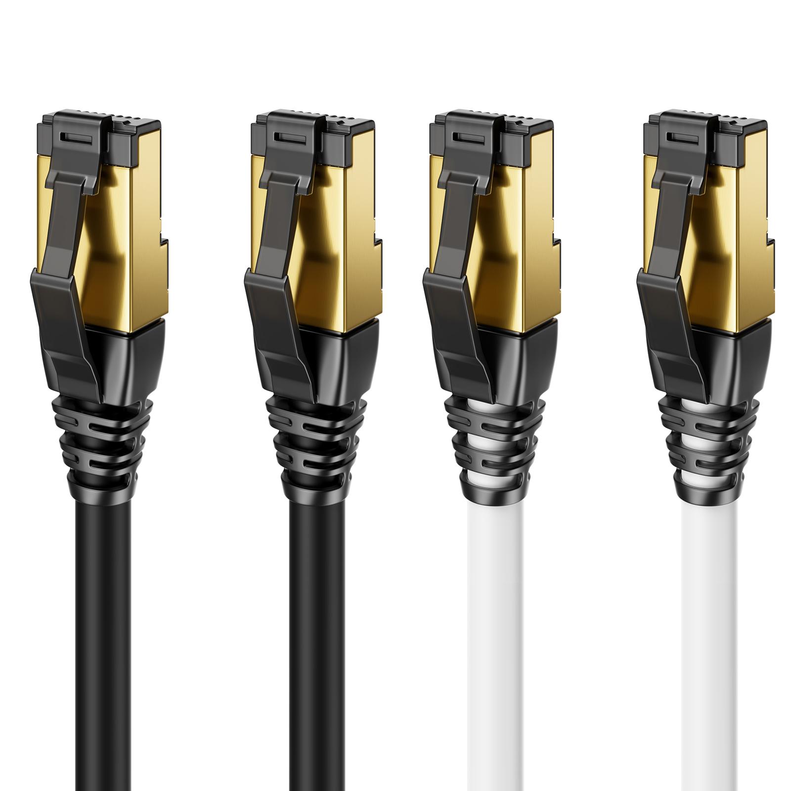 15m CAT 7 Patchkabel Netzwerkkabel RJ45 LAN DSL Netzwerk Ethernet Kabel Weiß