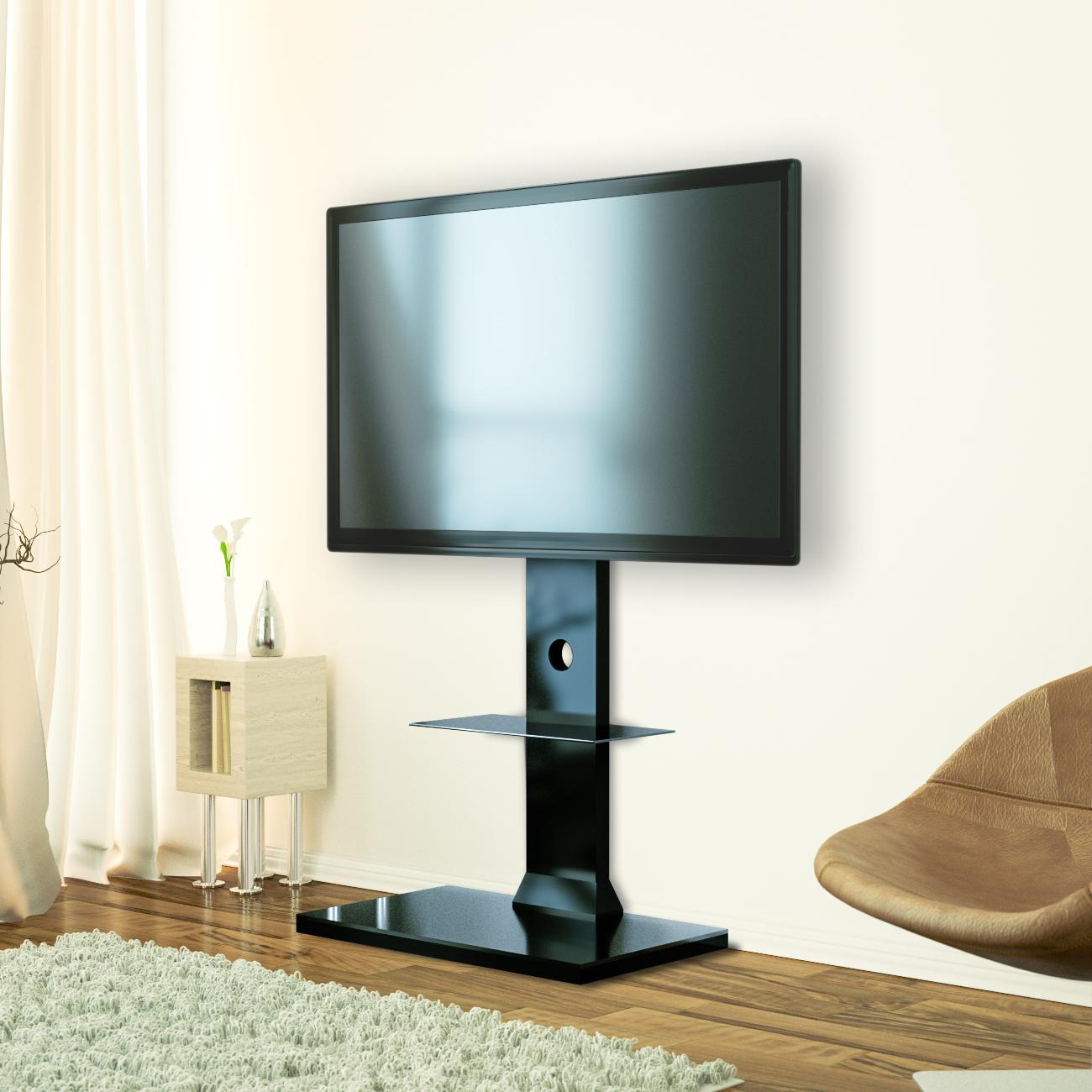 tv st nder tv halterung fernsehtisch standfu mit. Black Bedroom Furniture Sets. Home Design Ideas