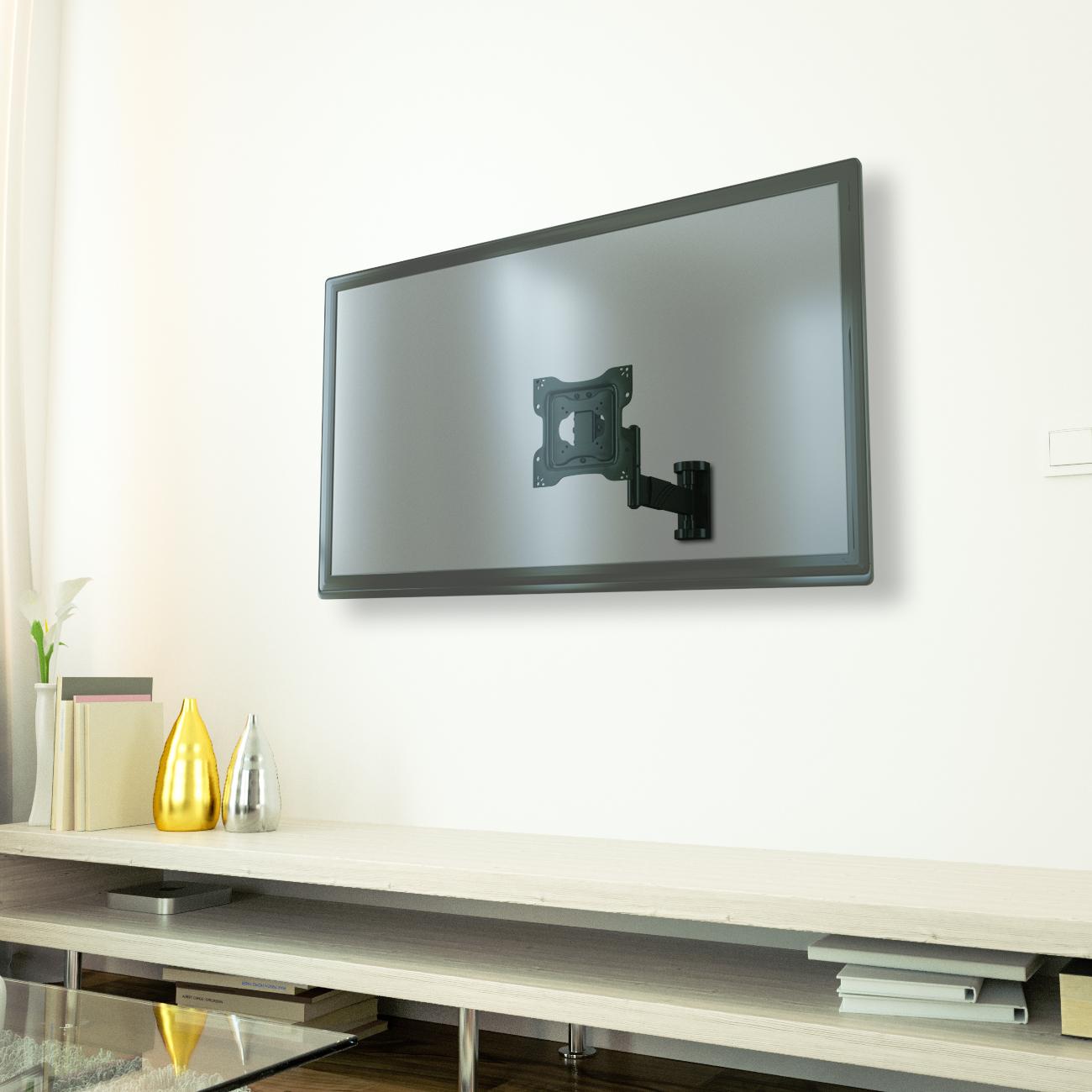 lcd led tv fernseher wandhalter wandhalterung 26 55 zoll neigbar schwenkbar ebay. Black Bedroom Furniture Sets. Home Design Ideas