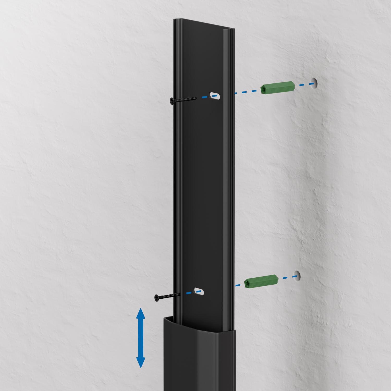 kabelkanal kabelleiste kabelführung leitungskanal pvc alu elektro
