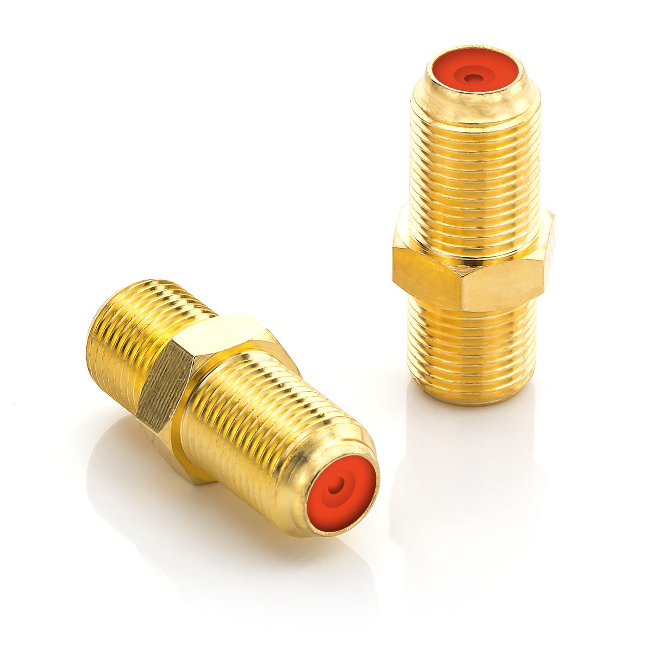 deleycon 2x sat verbinder kupplung sat koaxial kabel adapter verbindung f buchse ebay. Black Bedroom Furniture Sets. Home Design Ideas